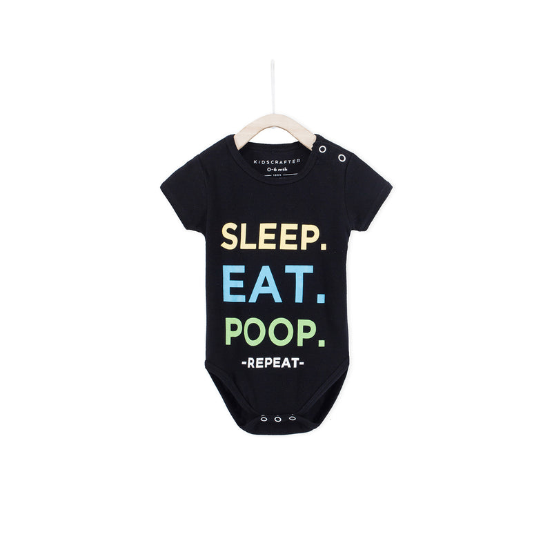 Sleep. Eat. Poop, Repeat - Black