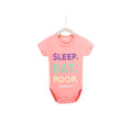 Sleep. Eat. Poop, Repeat - Pink