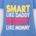 Smart Like Daddy Onesie - Magenta