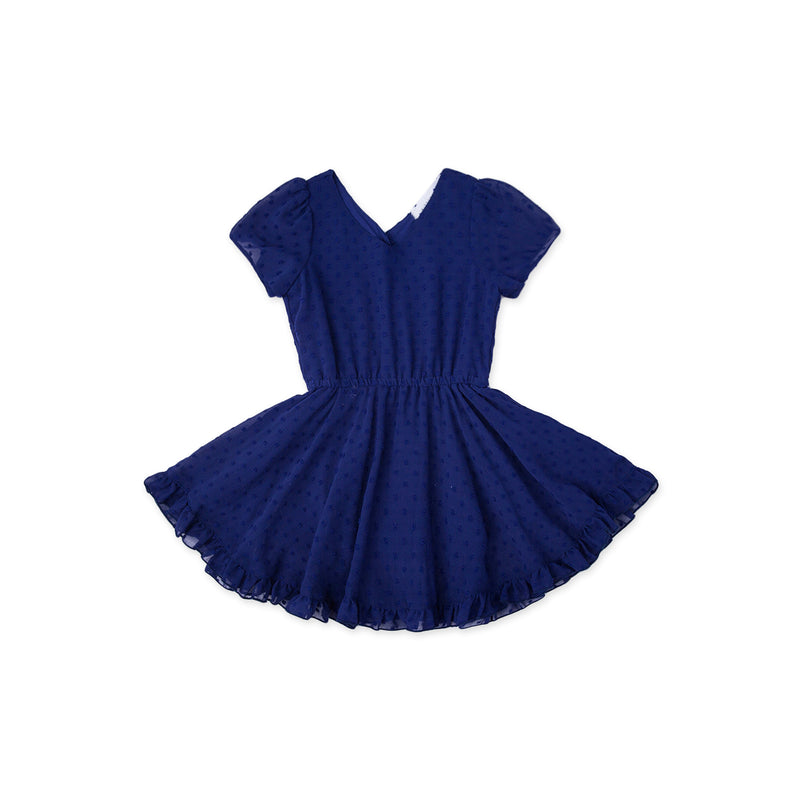 Swiss Away Swiss Dots Dress - Royal Blue