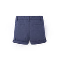 Textured Cotton Bermuda - Oxford Blue