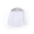 Urban Camo Detail Long Sleeve Shirt - Pebble White