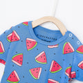 Watermelons Baby Romper - True Blue