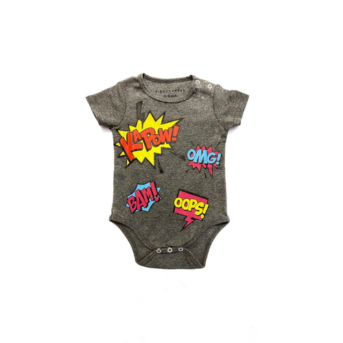 Comic Onesie - Gray