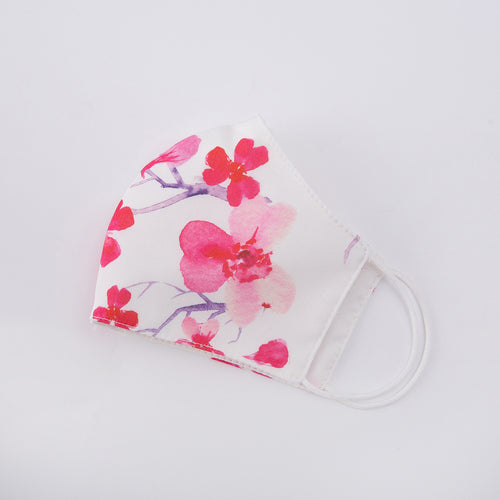Cherry Flutter Mask - White