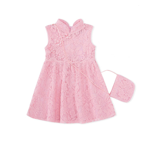 Little Spring Lace Cheongsam - Pink