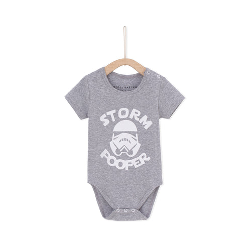 Storm Pooper Baby Romper -Light  Gray