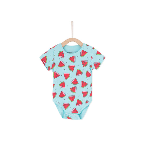 Watermelons baby Romper - Light Blue