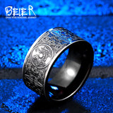 Viking Stainless Steel Dragon Ring