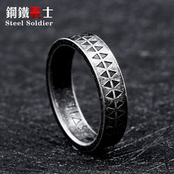 Steel Viking Soldier Ring