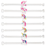 12-Pack Assorted Unicorn Party Favor Bracelets