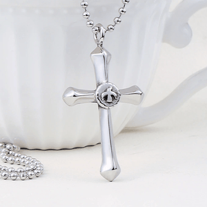 Stainless Steel Cross 'FREE EAGLE' Necklace