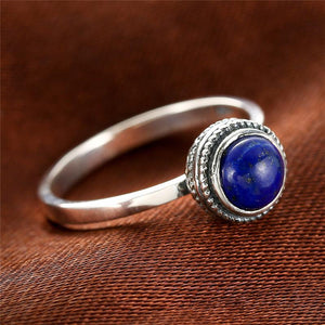 925 Sterling Silver Lapis Lazuli Stone Ring