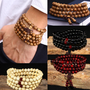 Popular Natural Sandalwood  Mala Beads