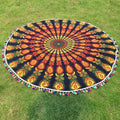Hippy Mandala Beach Yoga Tapestry