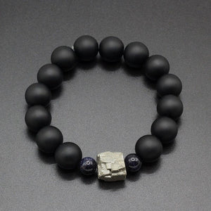 Unique Pyrite Meteorite  Natural Guardian Stone Bracelet