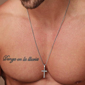 Men's Minimalistic Stainless Steel Cross Necklace