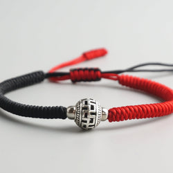 Lucky Red String Handmade Ceramic Bracelets 2 Pc Set Zenheavens