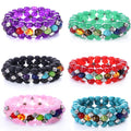 MultiLayer 7 Chakra Stone & Bling Bracelet