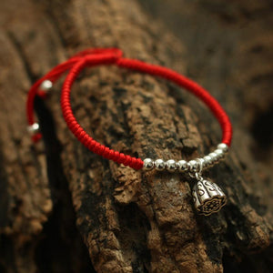 Lucky Rope Sterling Silver Lotus PURITY Bracelet