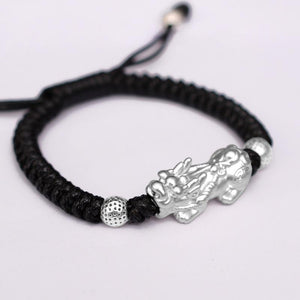 PURE Silver LUCKY FORTUNE  PIXIU Feng Shui Bracelet