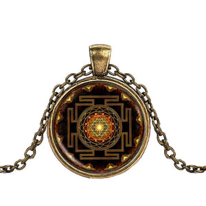 Sacred Sri Yantra Necklace Pendant- 4 Color Choices