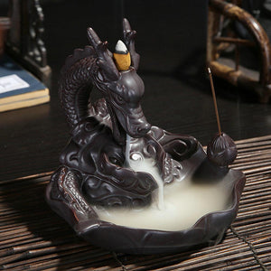 Smoke Breathing Ceramic Dragon Incense Burner