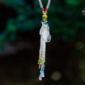 Crystal Feng Shui  Pi Xiu GOOD FORTUNE Sun Catcher