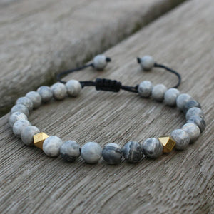 Men's 6mm Natural Stone ENERGY  Bracelets-12 Different Stone choices. BUY 2 , GET 1 FREE TODAY!