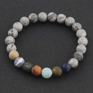 'The Planets' Natural Stone Bracelet for Men