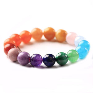 Luscious New 7 CHAKRA Natural Stone Bracelets- 8,10 & 12mm Beads