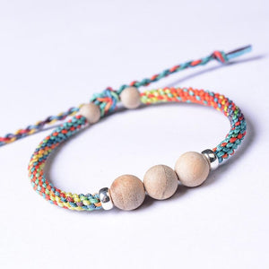 Braided CAMPHOR Wood NATURAL MOSQUITO REPELLENT Rope Bracelet-ADULT Sizing