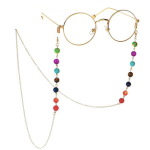 Natural 7 CHAKRA  STONE -GLASSES CHAIN- Funk up your Specs/sunglasses!