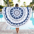 Pretty in Blue Abstract Mandala Yoga Tapestry
