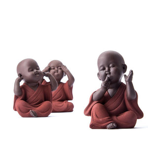 Buddha Tea Pet See/Speak/Hear no Evil Figurines- BUY 2, get the 3rd FREE!