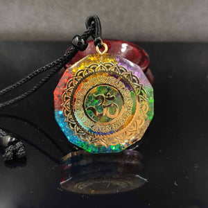 Healing ORGONITE & OM Pendant Necklace