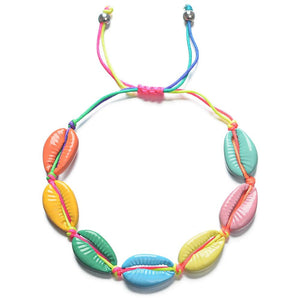 SUMMER BRIGHT & COLORFUL  Cowry Shell Style BOHO Rope Bracelets