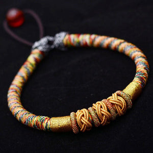 Hand knotted Tibetan Pineapple Auspicious Knot bracelet