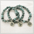 Natural African Turquoise Charm Bracelet