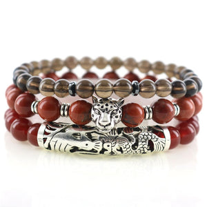 Mens' RED HOT PASSION 3/pc  bracelet Set can help Lift your Game!