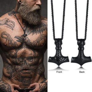 Men's Stainless Steel Viking RUNES Necklace