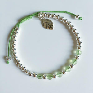 Need WILLPOWER?Try our Prehnite Stone & 925 Sterling Silver Rope Bracelet