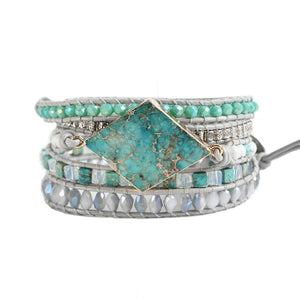 Imperial Jasper RE-ENERGIZING Wrap Bracelet- IN STOCK USA