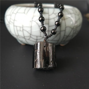 Natural Black Tourmaline-#1 NEGATIVITY SHIELD Pendant