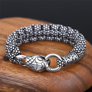 Stainless Steel SNAKE Head ' LIFE FORCE'  Bracelet