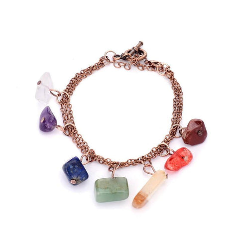 bracelet large copper sedmart with natural healing products charms link yoga women crystal om zenheavens stone antique chakra