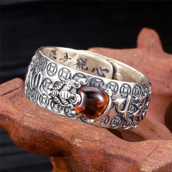 CHINA REAL SILVER 925 SILVER SOLID SILVER RING CROSS OLD SPIRITUAL COLLEC