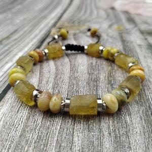 Raw Citrine & Crazy Lace Agate TOTAL HAPPINESS Bracelet