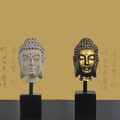 Buddha Head on Display Base-2 Finishes Available