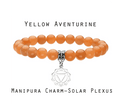 Stunning Stone Bead Bracelet with Chakra Charm -All 7 Primary Chakras Available